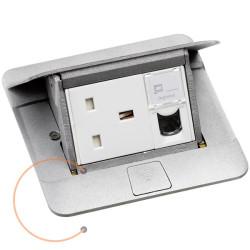 FLUSH MOUNT BOX BETON-METAL 4M   Metal flush-mounting box for installation in concrete floor